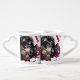 クリスマスのシーズー(犬) Poo ペアカップ