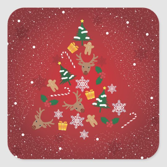 クリスマスのシール スクエアシール