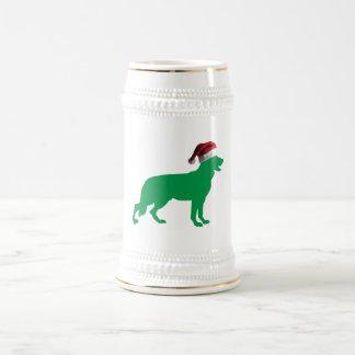 クリスマスのジャーマン・シェパード ビールジョッキ