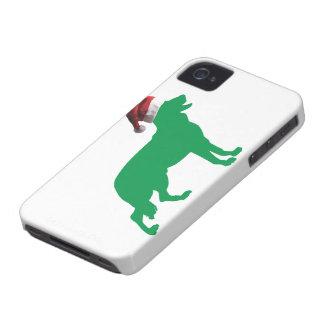 クリスマスのジャーマン・シェパード Case-Mate iPhone 4 ケース
