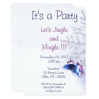 クリスマスのジングルのパーティー カード