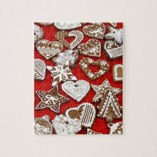 クリスマスのジンジャーブレッドのクッキー ジグソーパズル