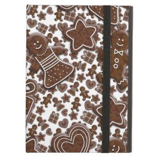 クリスマスのジンジャーブレッドのクッキー iPad AIRケース