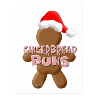 クリスマスのジンジャーブレッドのパン ポストカード