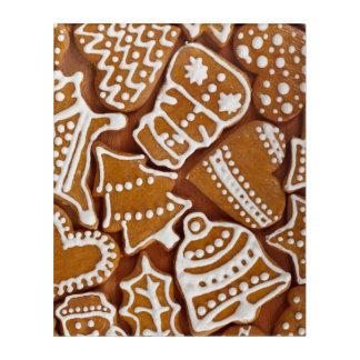 クリスマスのジンジャーブレッドの休日のクッキー アクリルウォールアート