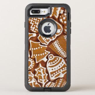 クリスマスのジンジャーブレッドの休日のクッキー オッターボックスディフェンダーiPhone 8 PLUS/7 PLUSケース