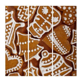 クリスマスのジンジャーブレッドの休日のクッキー トリプティカ
