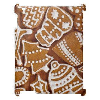 クリスマスのジンジャーブレッドの休日のクッキー iPadケース