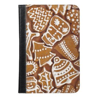 クリスマスのジンジャーブレッドの休日のクッキー iPad MINIケース