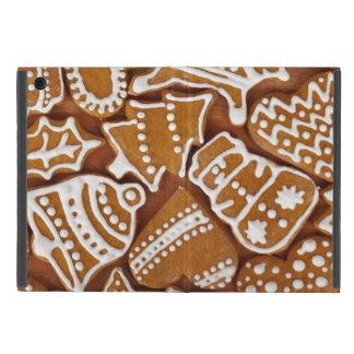 クリスマスのジンジャーブレッドの休日のクッキー iPad MINI ケース