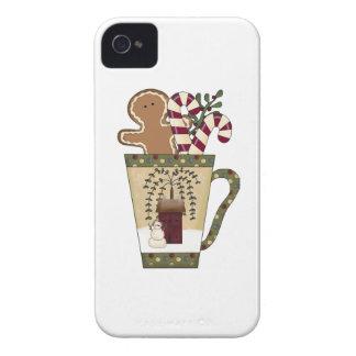 クリスマスのジンジャーブレッドの休日 Case-Mate iPhone 4 ケース