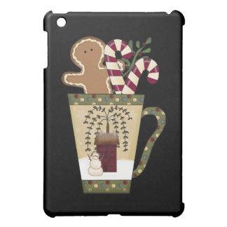 クリスマスのジンジャーブレッドの休日 iPad MINIケース