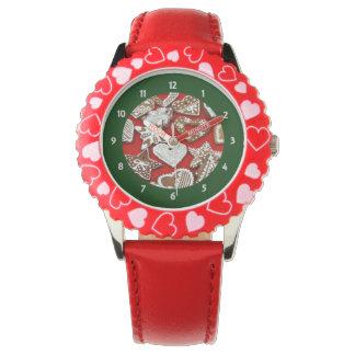 クリスマスのジンジャーブレッドの腕時計 腕時計