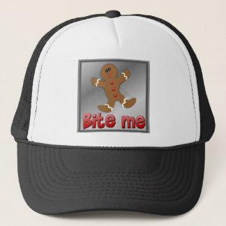 クリスマスのジンジャーブレッドは私をクッキーAPARRELLかみます キャップ