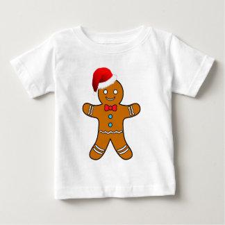 クリスマスのジンジャーブレッドマン ベビーTシャツ