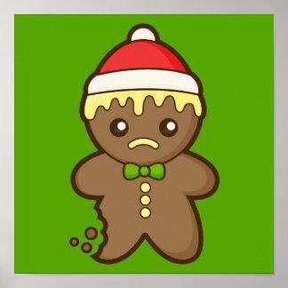 クリスマスのジンジャーブレッドマン ポスター