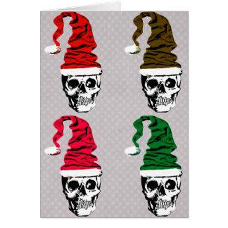 クリスマスのスカルのカスタム・カード カード