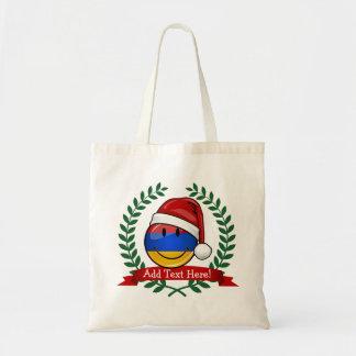 クリスマスのスタイルのアルバニア人の旗 トートバッグ