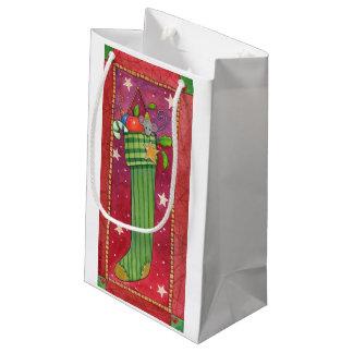 クリスマスのストッキングのギフトバッグ スモールペーパーバッグ
