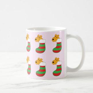 クリスマスのストッキングのマグのAiredaleテリア犬 コーヒーマグカップ