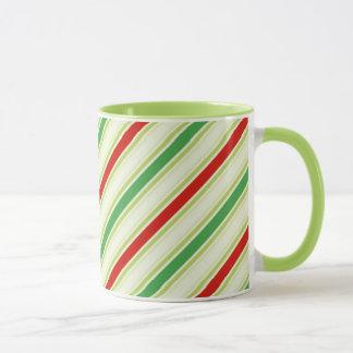 クリスマスのストライプなマグ マグカップ