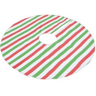 クリスマスのストライプの縦のtreeskirtの赤かgrnまたは白 ブラッシュドポリエステルツリースカート