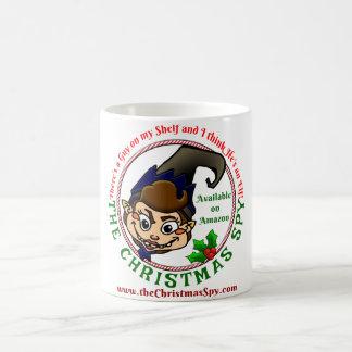 クリスマスのスパイのコーヒー・マグ コーヒーマグカップ