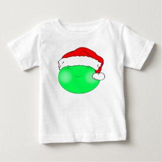 クリスマスのスマイリーフェイス ベビーTシャツ