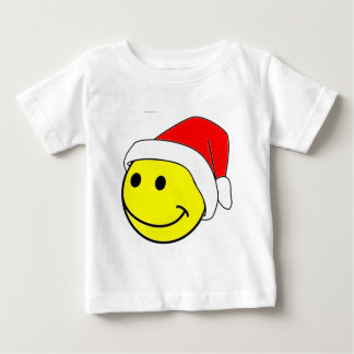 クリスマスのスマイリーFace.png ベビーTシャツ