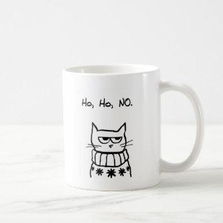 クリスマスのセーターの怒っている猫-おもしろいな猫のクリスマス コーヒーマグカップ