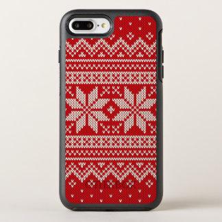 クリスマスのセーターの編み物パターン-赤 オッターボックスシンメトリーiPhone 8 PLUS/7 PLUSケース