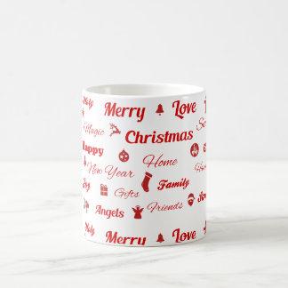 クリスマスのタイポグラフィのマグ コーヒーマグカップ
