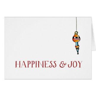 クリスマスのタイポグラフィの挨拶状 カード