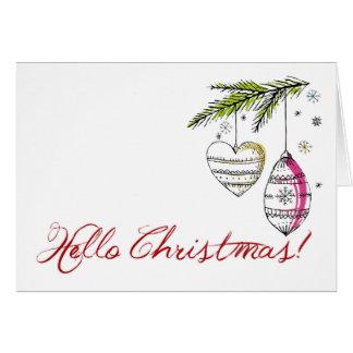 クリスマスのタイポグラフィの挨拶状 グリーティングカード