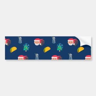 クリスマスのタコスのemoji バンパーステッカー