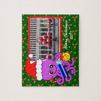 クリスマスのタコ ジグソーパズル
