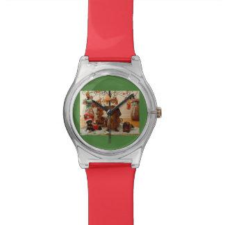 クリスマスのダックスフント(版2) 腕時計