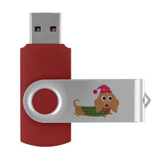 クリスマスのダックスフントUSBドライブ USBフラッシュドライブ
