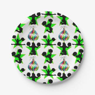 クリスマスのチアリーダー 紙皿 小