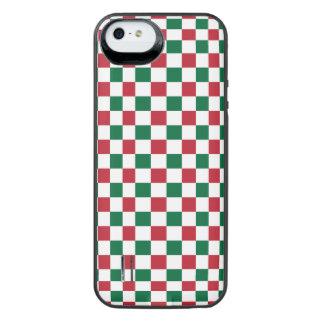 クリスマスのチェッカーボード iPhone SE/5/5sバッテリーケース