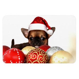 クリスマスのチワワの子犬 マグネット