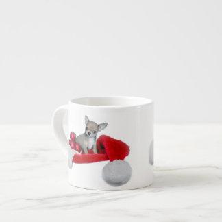 クリスマスのチワワ犬 エスプレッソカップ
