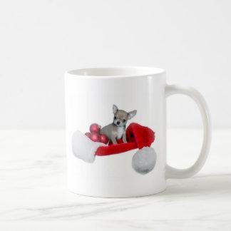 クリスマスのチワワ犬 コーヒーマグカップ