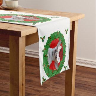 クリスマスのチワワ犬 ショートテーブルランナー