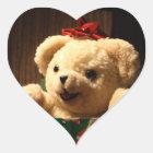 クリスマスのテディー・ベアのステッカー ハートシール