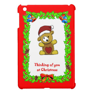 クリスマスのテディ iPad MINIケース