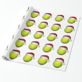 クリスマスのテニス・ボール ラッピングペーパー