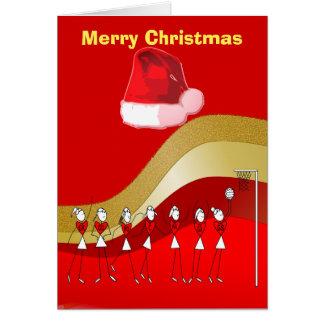 クリスマスのテーマのネットボール カード