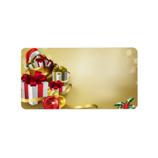 クリスマスのデザイン 宛名ラベル