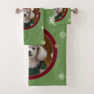 クリスマスのトイプードルタオルセット バスタオルセット